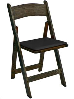Rental store for SPANISH OAK WOOD CHAIR BLACK PAD in Portland OR