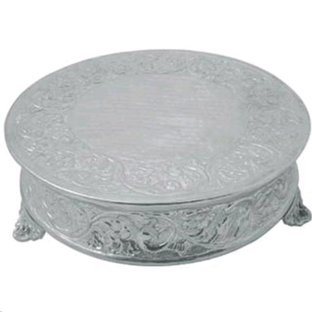Where to find ROUND CAKE STAND 16  NICKEL in Portland