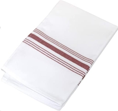 Rental store for 18 X22  BISTRO STRIPE RED NAPKIN in Portland OR