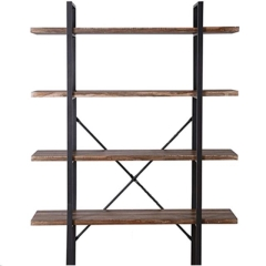 Rental store for WOOD BLACK ETAGERE SHELVES in Portland OR