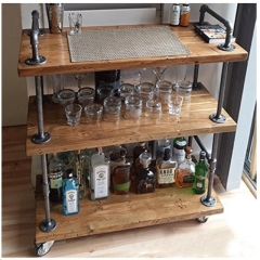 Rental store for RUSTIC WOOD METAL BAR CART in Portland OR