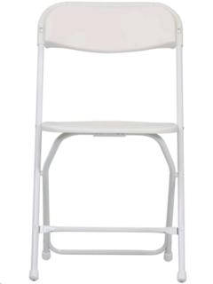 Rental store for WHITE PLASTIC FOLDING CHAIR in Portland OR