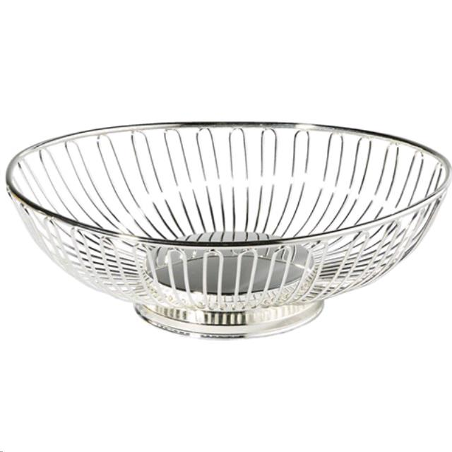 Where to find 8  SILVER METAL OVAL BASKET in Portland