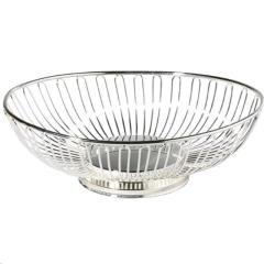 Rental store for 8  SILVER METAL OVAL BASKET in Portland OR