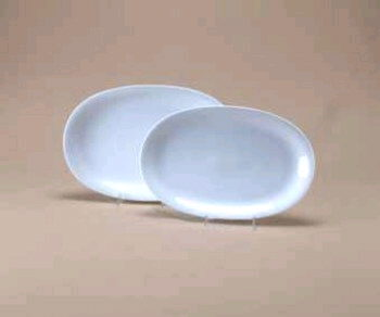 Where to find WHITE OVAL RIM PLATTER 13 in Portland